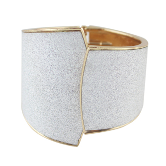 Harga Feelontop Gold Silver Color Charming Exaggerate Cuff Bracelet and Bangle