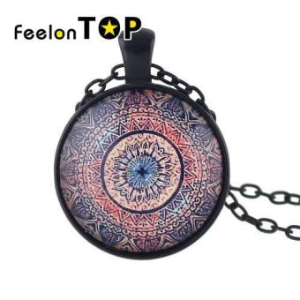 Harga Feelontop New Design Ethnic Pattern Long Pendant Necklaces Jewelry(red) - intl