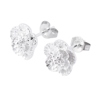 Harga Womens Elegant Jewelry Cherry Blossoms Flower Ear Stud Earrings(Silver)