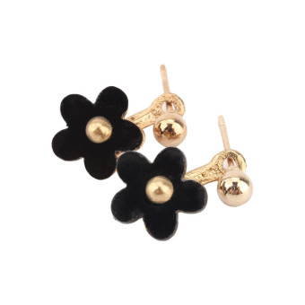 Harga Women Lady Ball Plum Flower Dangle Earring Ear Stud(Black)