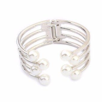 Harga Faux Pearl Cage Bangle