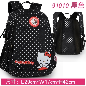 Harga Hello Kitty hello kitty cat students school bags girl 1-4 Grade 9 girls children's shoulder bag burdens package