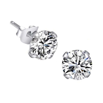 Harga Fang Fang Crystal Ear Stud Earrings 3mm (Silver)