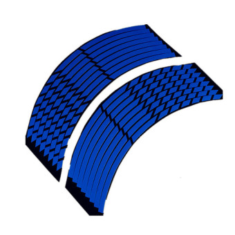 Harga UJS 16 Strips Wheel Sticker Reflective Rim Stripe Tape Bike Motorcycle Car 16 17 18inch Blue