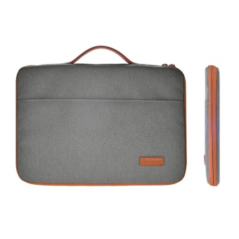 "Harga dodocool 13-13.3 Inch Laptop Nylon Zipper Sleeve Ultrabook Carrying Case Notebook Protective Bag Cover with PU Leather Handle for Apple 13"" MacBook Pro/ 13"" MacBook Air/ 12.9"" iPad Pro and More Dark Gray - intl"