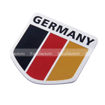 Harga Car Alloy Metal German Germany Flag Chrome Emblem Badge Truck Auto Decal Sticker