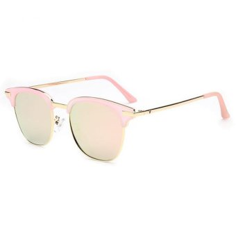 Harga Ten-Stellar 2017 trend street street sunglasses female, Korean reflective sunglasses male, pink fashion driving glasses - intl
