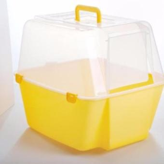Harga COVERED CAT LITTER BOX WITH FREE SCOOP Yellow
