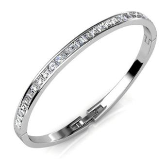 Harga Chic Bangle White Gold - (Crystals from Swarovski)