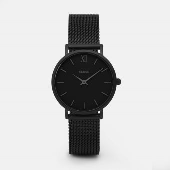 Harga Cluse Mesh Full Black Watch - intl