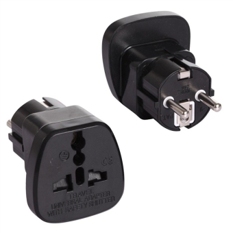Harga Type E/F Travel Trip Adapter Adaptor Plug for France Germany Europe Russia Grounded (Pack of 2) (EXPORT)