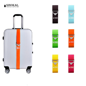 Travel Elastic Luggage Straps Adjustable Strap Travel Luggage Belt Suitcase Strap New Brand Candy Color - Black