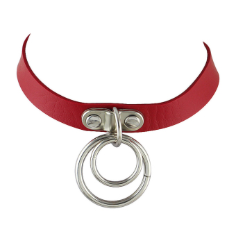 Feelontop Punk Rock Adjustable Pu Leather Choker Collar Necklaces