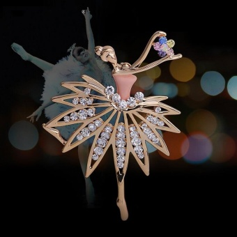 Harga 2016 New Ballet Girl Cute Corsage Brooch, Fashion Jewelry Girls