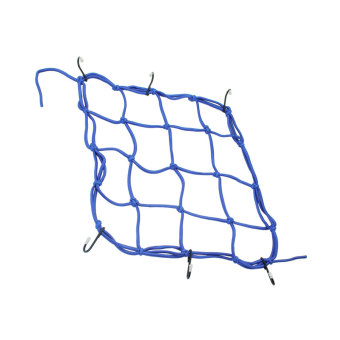 Blue Fixed Helmet Cargo Storage Elastic Net With 6 Hooks For Motorcycle Bike - Intl