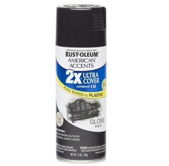 Harga Rust-Oleum Ultra Cover 2X Spray Paint 12oz (Gloss Black)