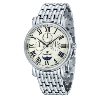 Harga Thomas Earnshaw MASKELYNE ES-8031-11 Men's Stainless Steel Solid Bracelet Watch - intl