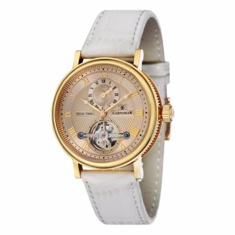 Harga Thomas Earnshaw BEAUFORT ES-8047-07 Men's White Genuine Leather Strap Watch - intl