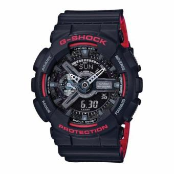 Casio G-Shock Black & Red Series Special Color Models Black Resin Watch GA110HR-1A
