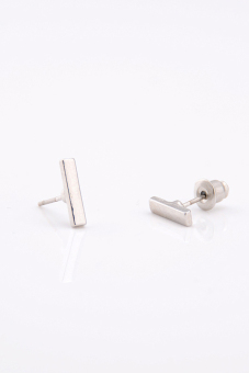 Harga Amango Women Earings Stud Simple T Bar Silver