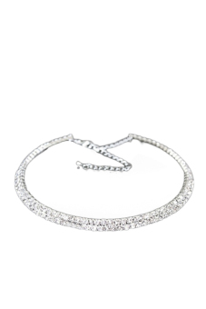 Harga Hequ Gorgeous Diamond Necklace Collar Clavicle (The Two Row Drill )