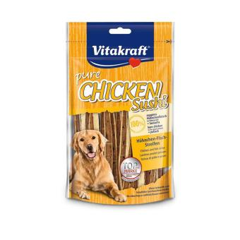 Harga Vitakraft CHICKEN SUSHI STRIPS DOG TREATS 80g(...)