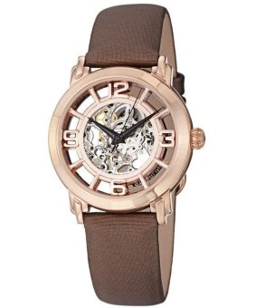 Harga Stuhrling Original Winchester Automatic Skeleton Dial Women's Brown Genuine Leather Strap Watch 156.124T14
