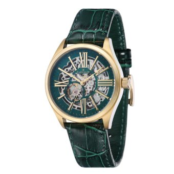 Harga Thomas Earnshaw ARMAGH ES-8037-07 Men's Green Genuine Leather Strap Watch - intl