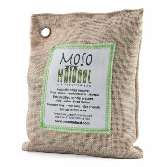 Harga Moso Natural Air Purifying Bag. Odor Eliminator for Cars, Closets, Bathrooms and Pet Areas. Natural Color, 200-G - intl