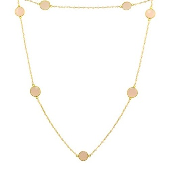 Harga Rose Quartz Necklace in 18K Gold Plating