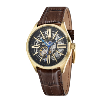 Harga Thomas Earnshaw ARMAGH ES-8037-03 Men's Brown Genuine Leather Strap Watch - intl
