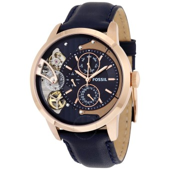 Harga Fossil Townsman Muli-Function Navy Blue Dial Watch ME1138