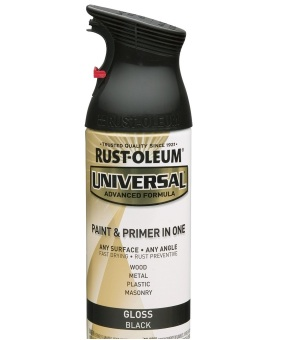 Harga Rust-Oleum All-Surface Spray Paint 12oz (Gloss Black)