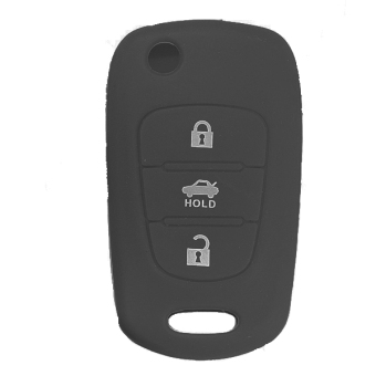 Harga 3 Button Silicone Key Case Holder Fob Protect Cover for HYUNDAI i20 i30 i40 Black