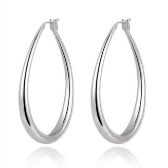 Harga Okdeals 925 Sterling Silver Plated Ear Studs Large U Hoop Dangle Earrings