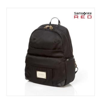 Harga SAMSONITE RED KOREA LIGHTILO MINI BACKPACK BLACK Gold BAG NYLON 55S09002 Travel - intl