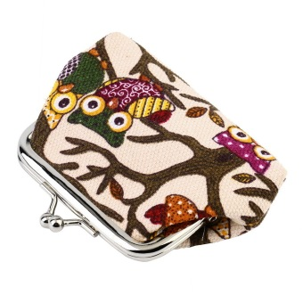 Harga OH Multi-color Owl Design Coin Money Bag Purse Wallet Canvas For Women Girl Lady
