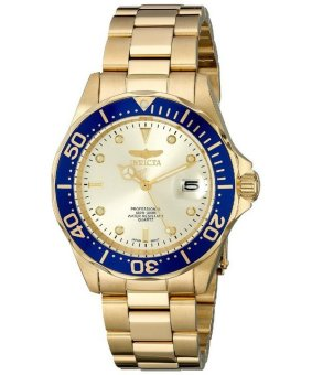 Harga Invicta Pro Diver 200M Men's Gold Tone Stainless Steel Strap Watch INV14124