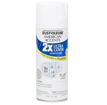 Harga Rust-Oleum Ultra Cover 2X Spray Paint 12oz (Flat White)