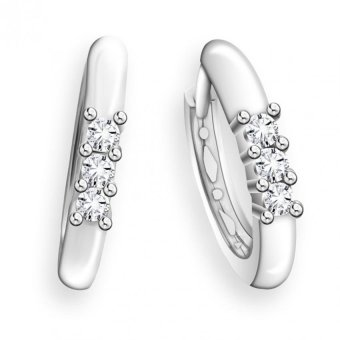 Harga Taka Jewellery Brillia Diamond Earrings (9K White Gold)