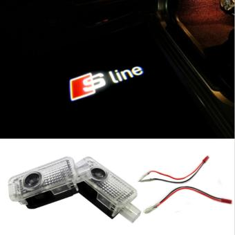 Harga 2X Car Door Light Ghost Shadow Light Logo Projector For AUDI RS RS3 RS4 RS5 RS6 S4 S5 S6 S7 S8 A1 A3 A4 A5 80 TT A6 A8 Q3 Q5 Q7 - intl