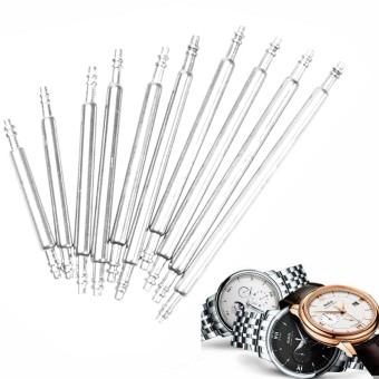 6 PCS Watch Band Strap Spring Bars Link Pins Stainless Steel Tools 20mm - Intl