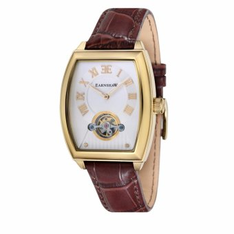 Harga Thomas Earnshaw ROBINSON ES-8044-03 Men's Brown Genuine Leather Strap Watch - intl