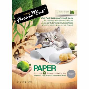 Harga Fussie Cat Natural Paper Litter 7 L