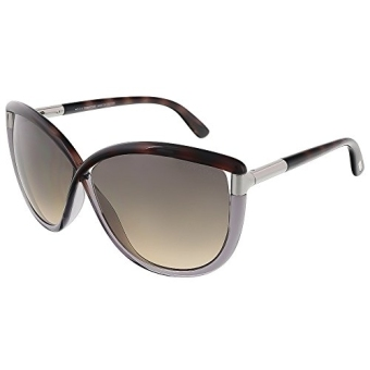 Harga [GPL] Tom Ford Sunglasses TF 327 Abbey Sunglasses 56B Transparent brown and transparent grey 63mm/ship from USA - intl