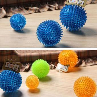 Harga 6cm Pet Puppy Dogs Chew Ball Clean Teeth Grind teeth Chew Toy (Color Random) - intl