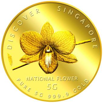 Harga Puregold 5g SG National Flower (Round) Gold Coin