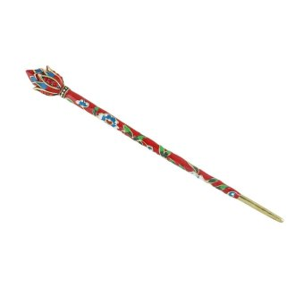 Harga Feelontop Ethnic Style Colorful Flower Metal Hair Sticks for Women - intl