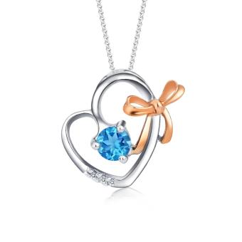 Harga SK Jewellery My Sweetheart Gem Pendant (Blue Topaz)