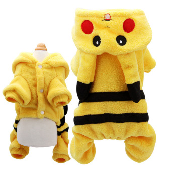 Harga 'Doggy Cute Lovely Collars'' Pikachu Shaped Dog Clothes Dress(Color:Yellow'